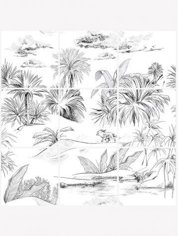 Oasis Toile de Jouy mosaïque - 9 planches