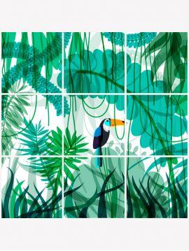 Toucan mosaïque - 9 planches