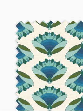 Lotus Bleu - Linear meter fabric