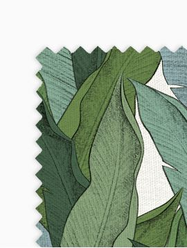 Leaf Blanc - Linear meter fabric