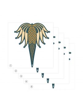 Freda bleu - 5 sheets - Second choice n°7