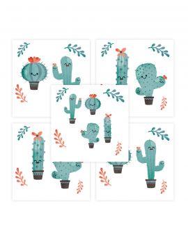 Cactus - Set de 5 planches