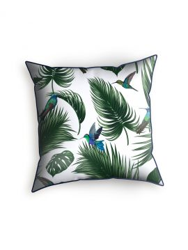 Jungle Blanc craie - Coussin