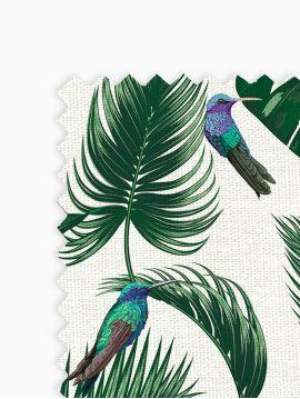 Jungle Blanc - Echantillon 20x30cm de tissu