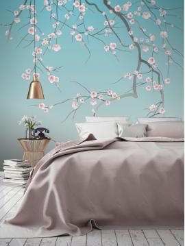 Sakura - mural 3 to 6 stripes