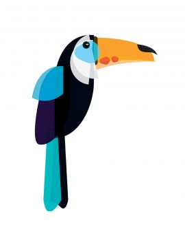 Toucan - Grand sticker